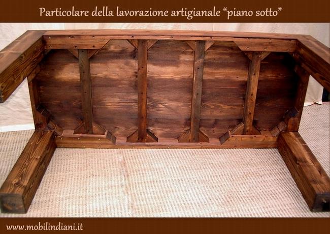 Arredamento etnico restauro - Tavoli artigianali in legno ...