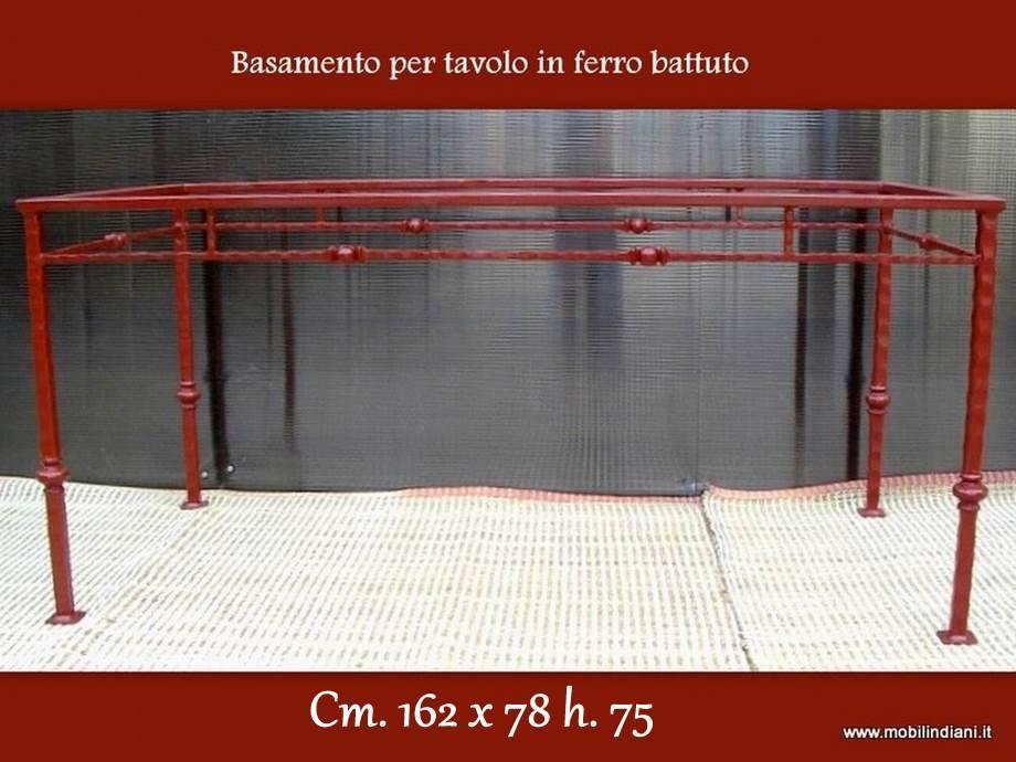 Basi ferro battuto per tavoli base in ferro battuto 162x78 - Tavoli in ferro battuto per interni ...