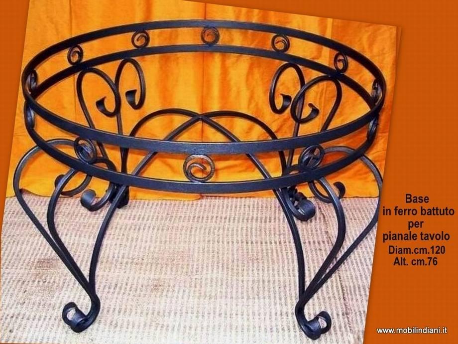 Basi ferro battuto per Tavoli : Base in ferro per tavolo rotondo