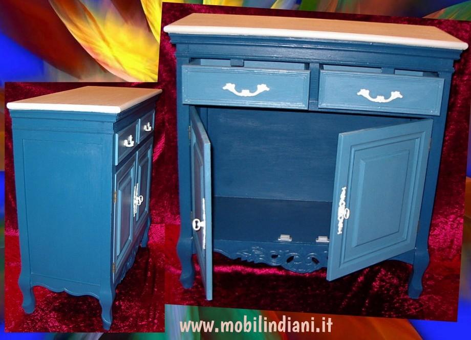 Mobili country mobili colorati in legno - Pomelli colorati per mobili ...