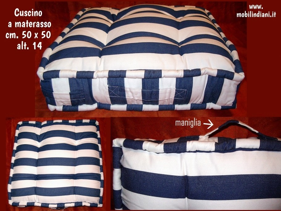 Cuscini cuscino a righe bianco e blu - Vendita materassi porta a porta ...