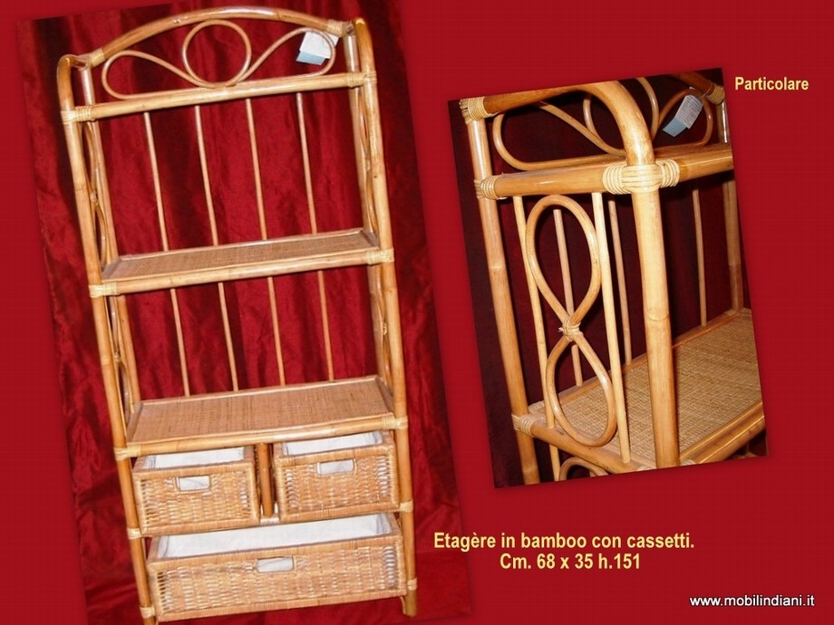 Librerie Etniche Etagère : Mobili etnici bambu Libreria bambu