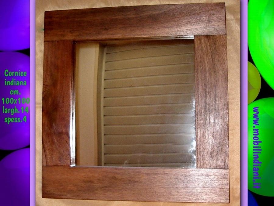 Specchi e cornici specchio etnico cornice in legno for Cornice specchio