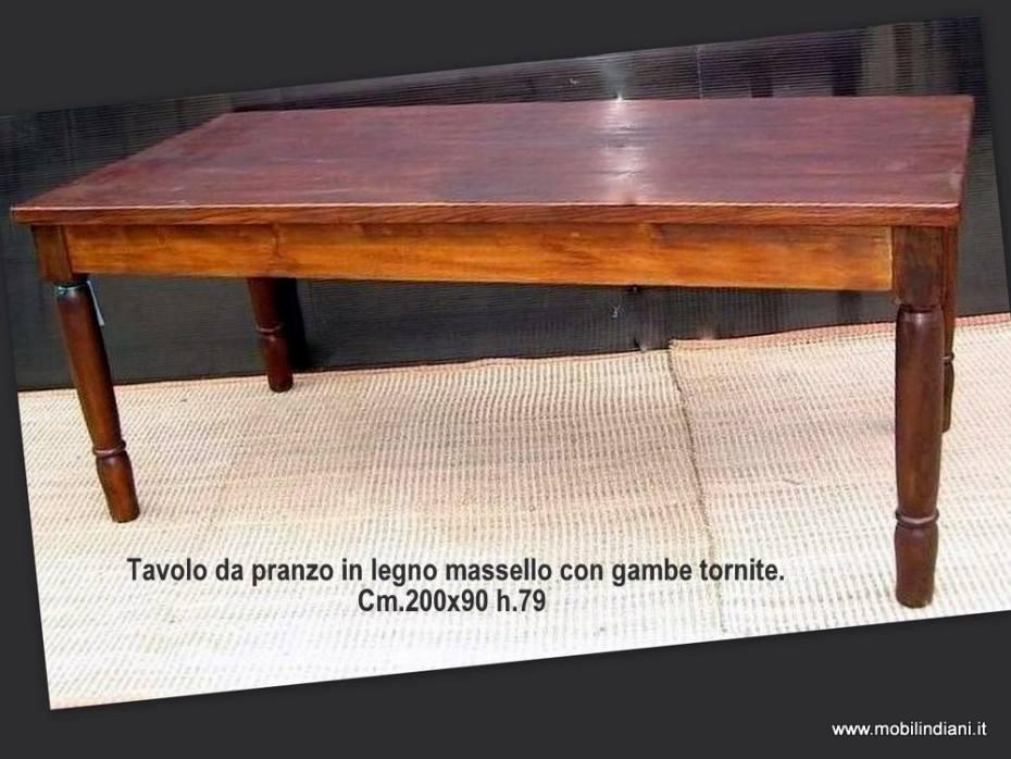 Tavoli etnici da pranzo tavolo trattoria in legno massello - Altezza tavolo da pranzo ...