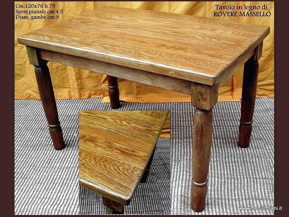 Tavoli etnici da pranzo tavolo da cucina in legno di rovere for Tavolo cucina rovere