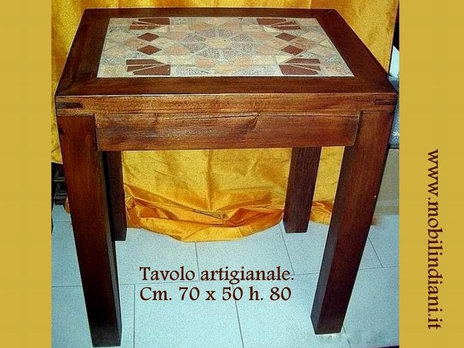 Tavoli in legno massello tavolo da cucina in legno 70x50 for Tavolo piccolo da cucina