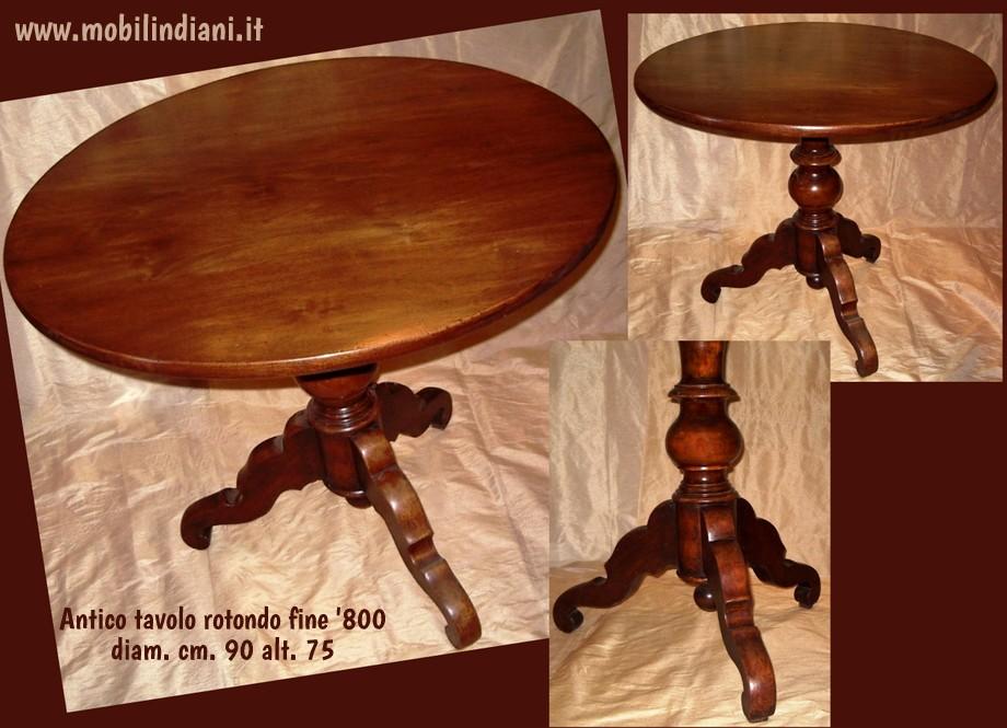 Tavolini: Tavolino rotondo antico