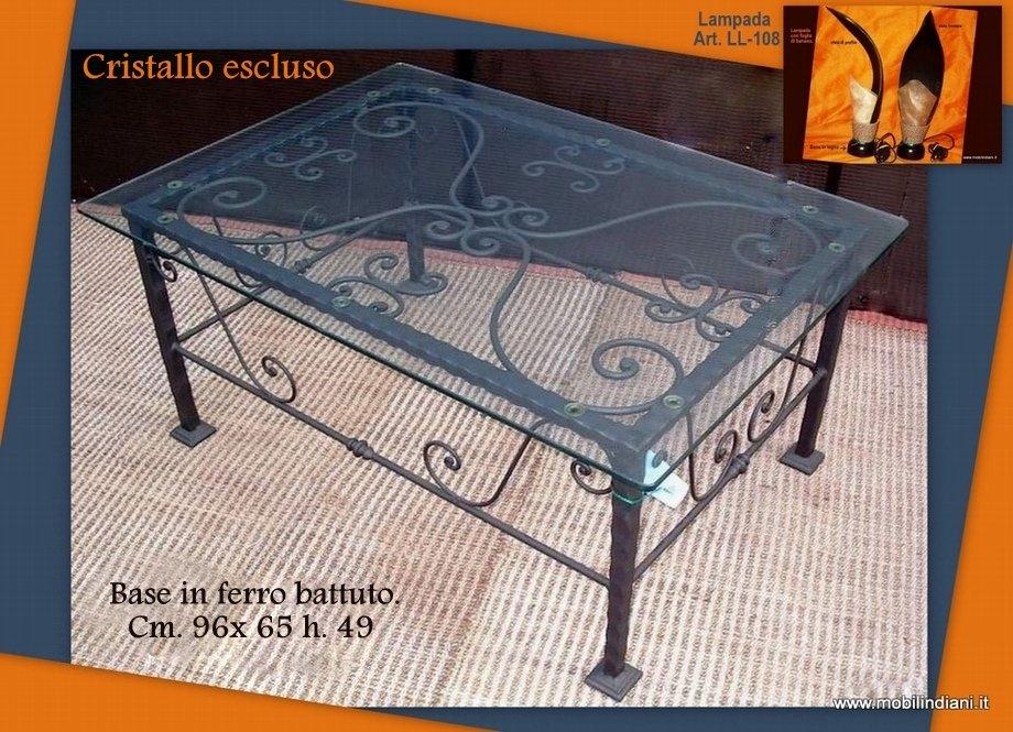 Tavolini: Tavolino basso ferro battuto