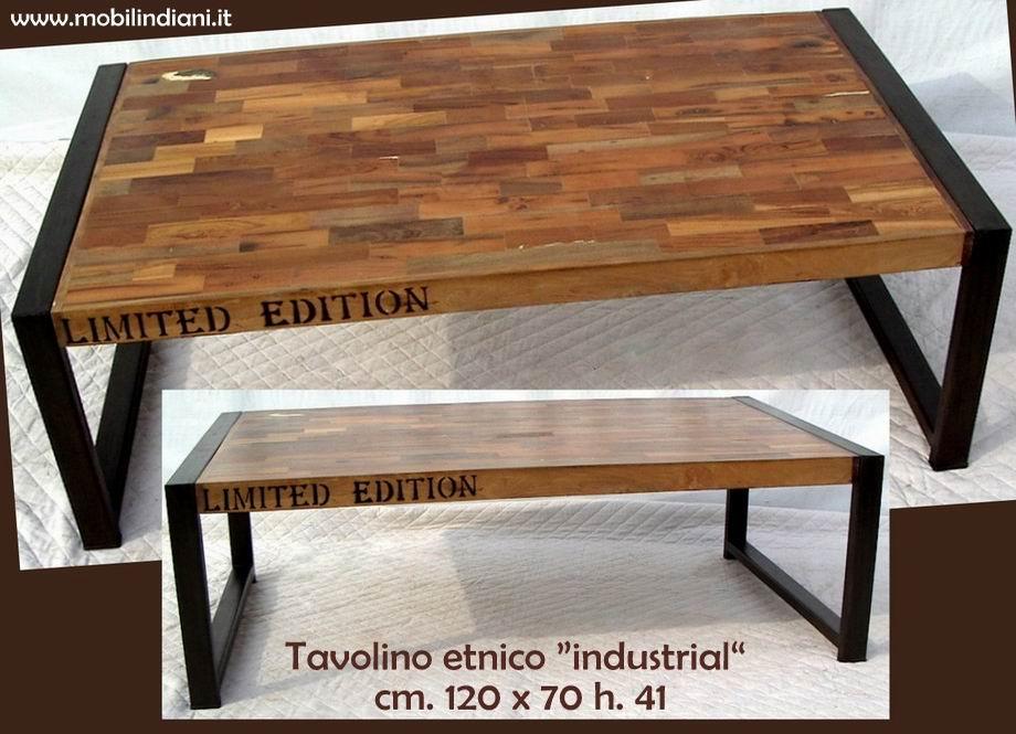 Tavolini tavolino industrial etnico for Tavolini industrial