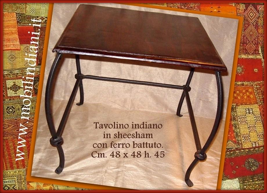 Tavolino In Legno Etnico.Tavolini Tavolino Etnico Base In Ferro